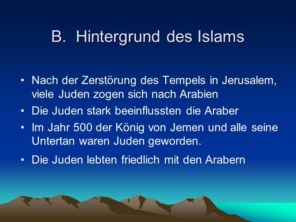 B. Hintergrund des Islams