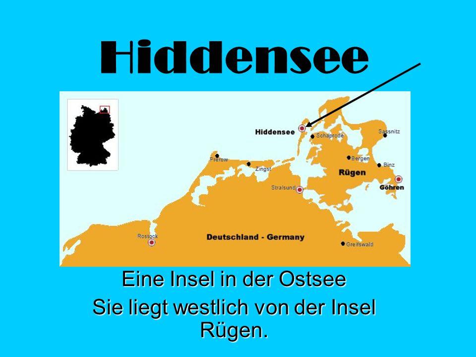 Eine Insel in der Ostsee Sie liegt westlich von der Insel Rügen.