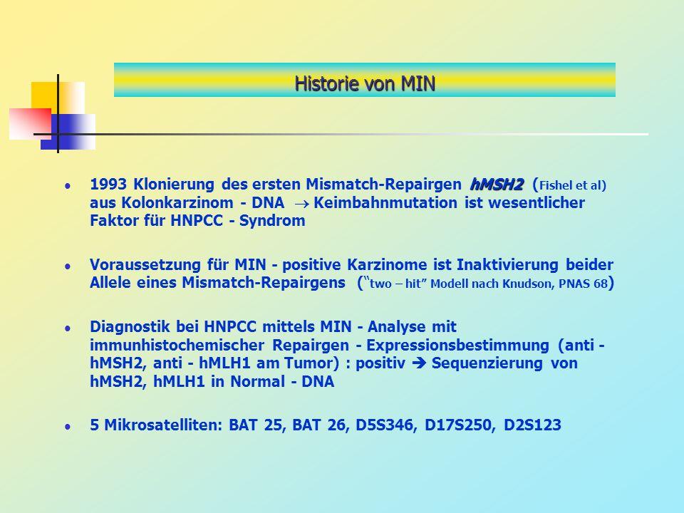 Historie von MIN