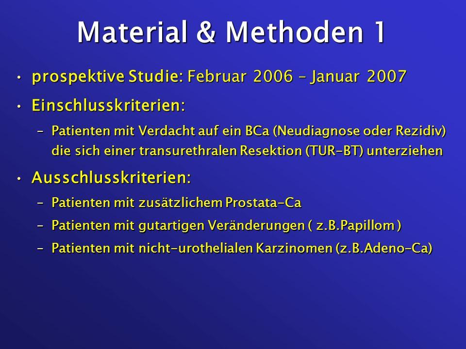 Material & Methoden 1 prospektive Studie: Februar 2006 – Januar 2007