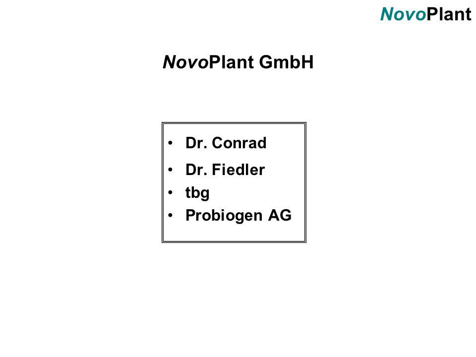 NovoPlant GmbH Dr. Conrad Dr. Fiedler tbg Probiogen AG