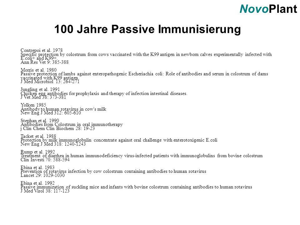 100 Jahre Passive Immunisierung