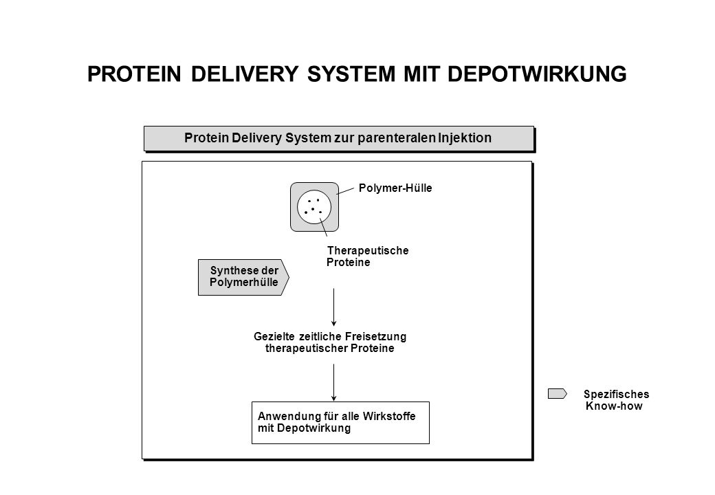 PROTEIN DELIVERY SYSTEM MIT DEPOTWIRKUNG
