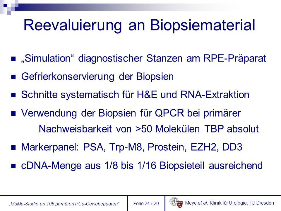 Reevaluierung an Biopsiematerial