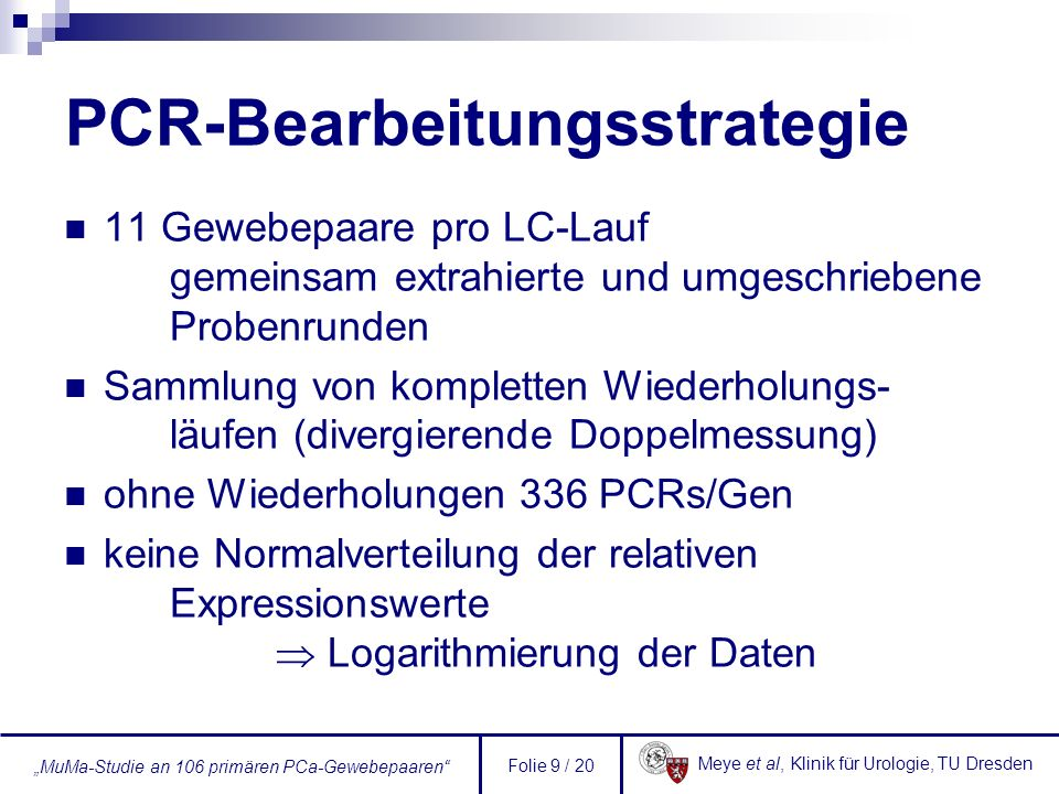 PCR-Bearbeitungsstrategie