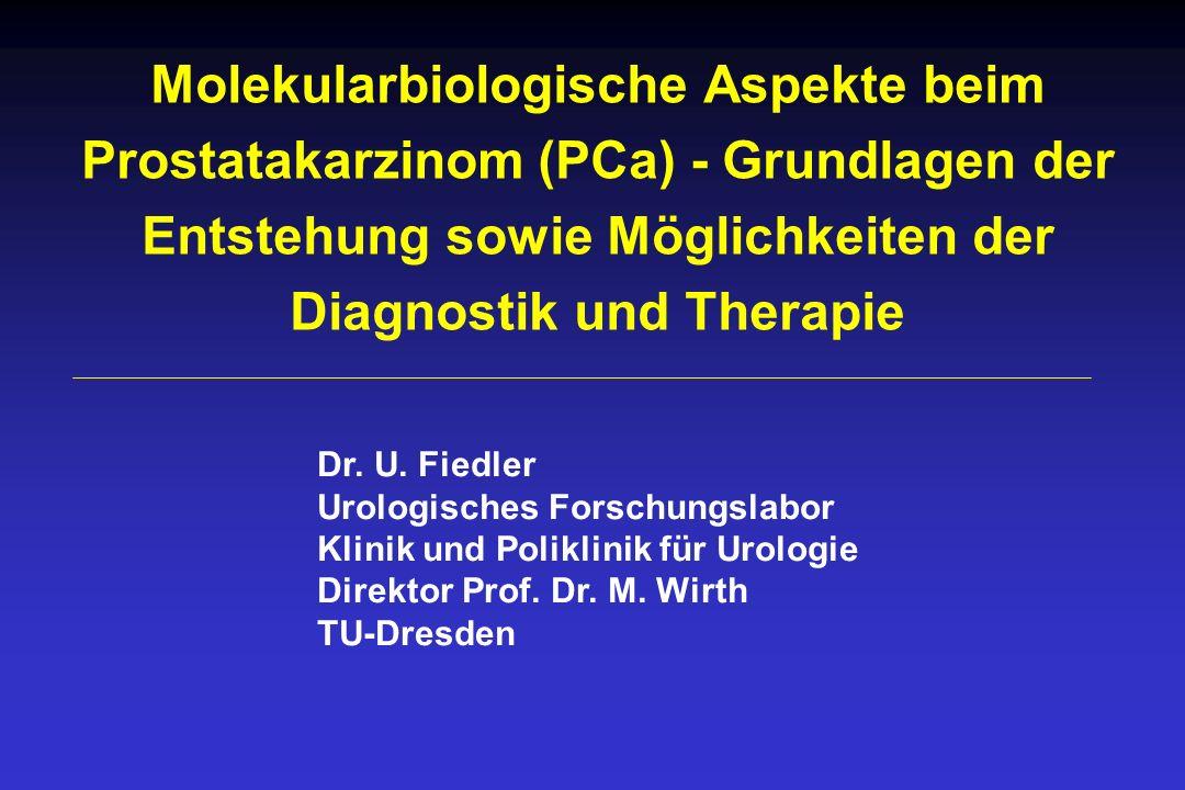 Molekularbiologische Aspekte beim Prostatakarzinom (PCa) - Grundlagen der Entstehung sowie Möglichkeiten der Diagnostik und Therapie