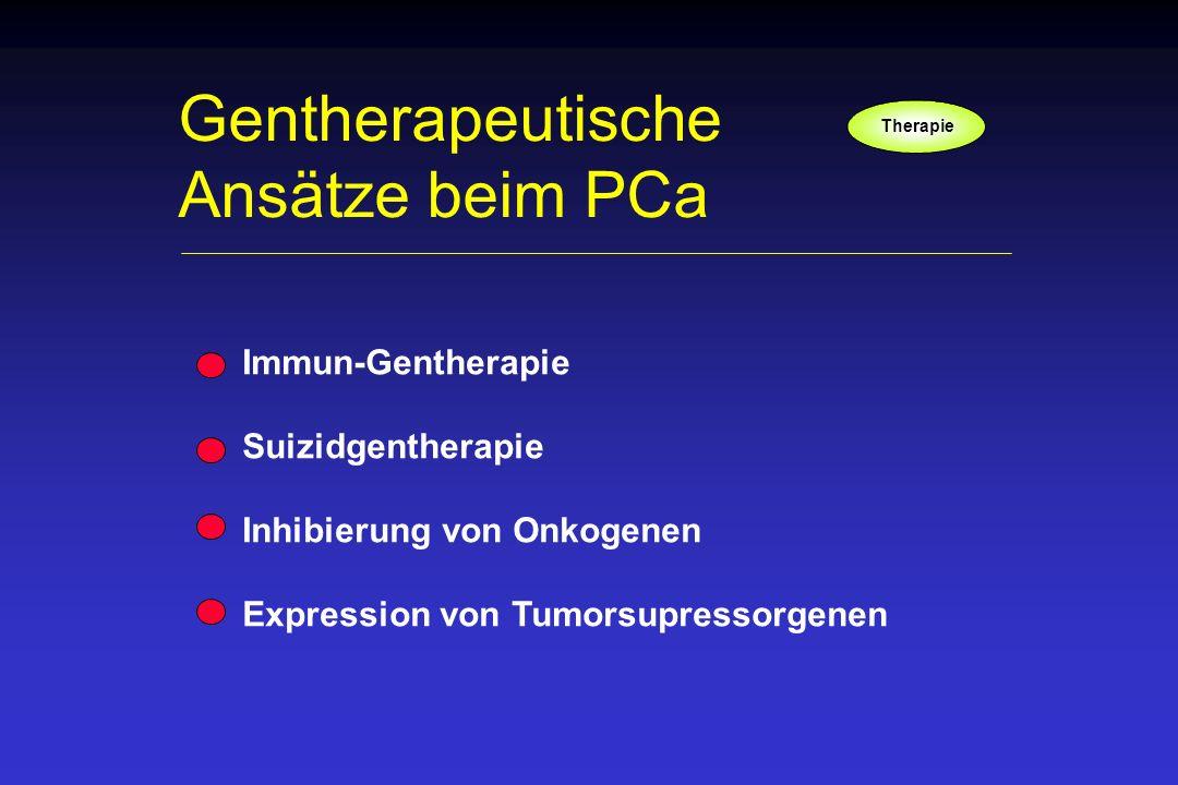 Gentherapeutische Ansätze beim PCa Immun-Gentherapie Suizidgentherapie