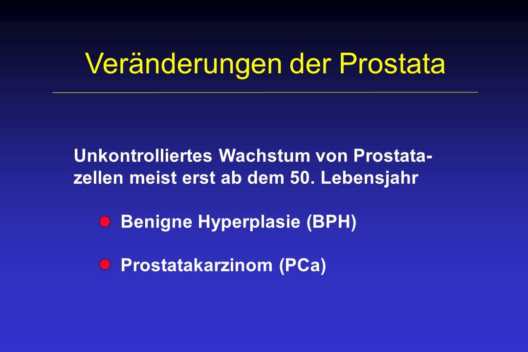 Veränderungen der Prostata