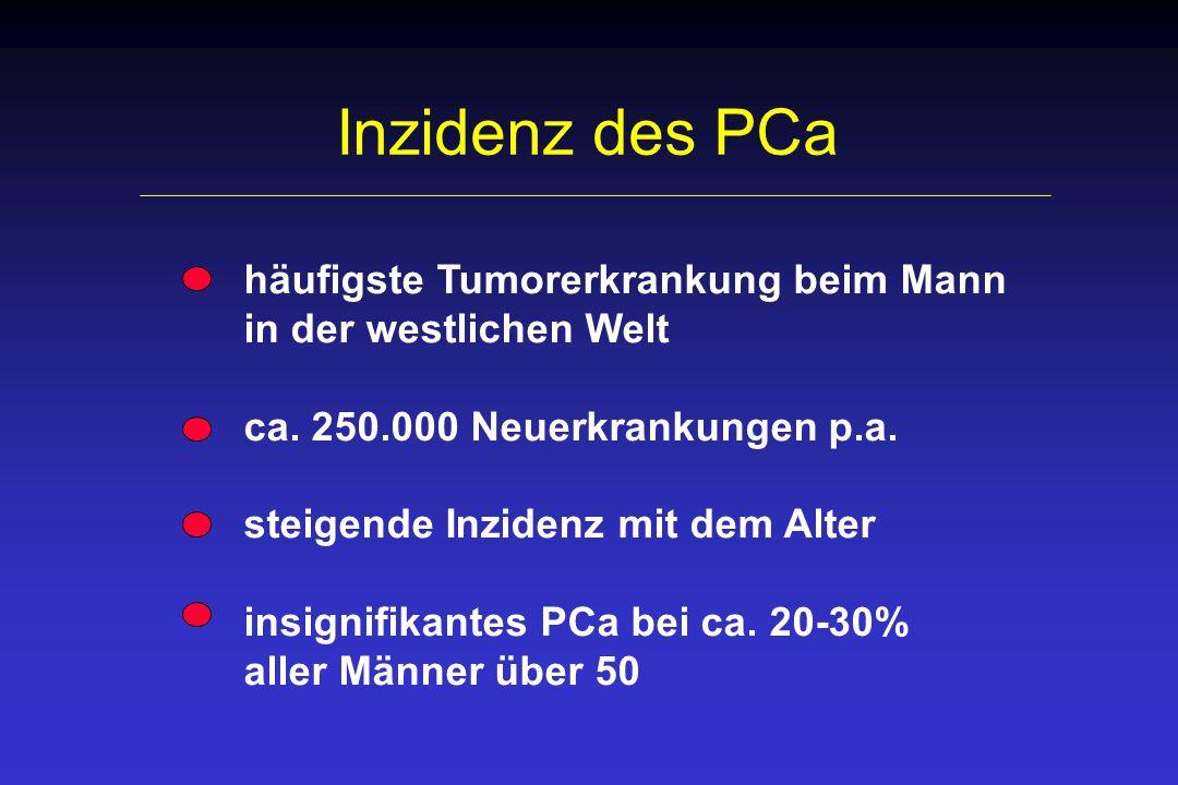 Inzidenz des PCa häufigste Tumorerkrankung beim Mann