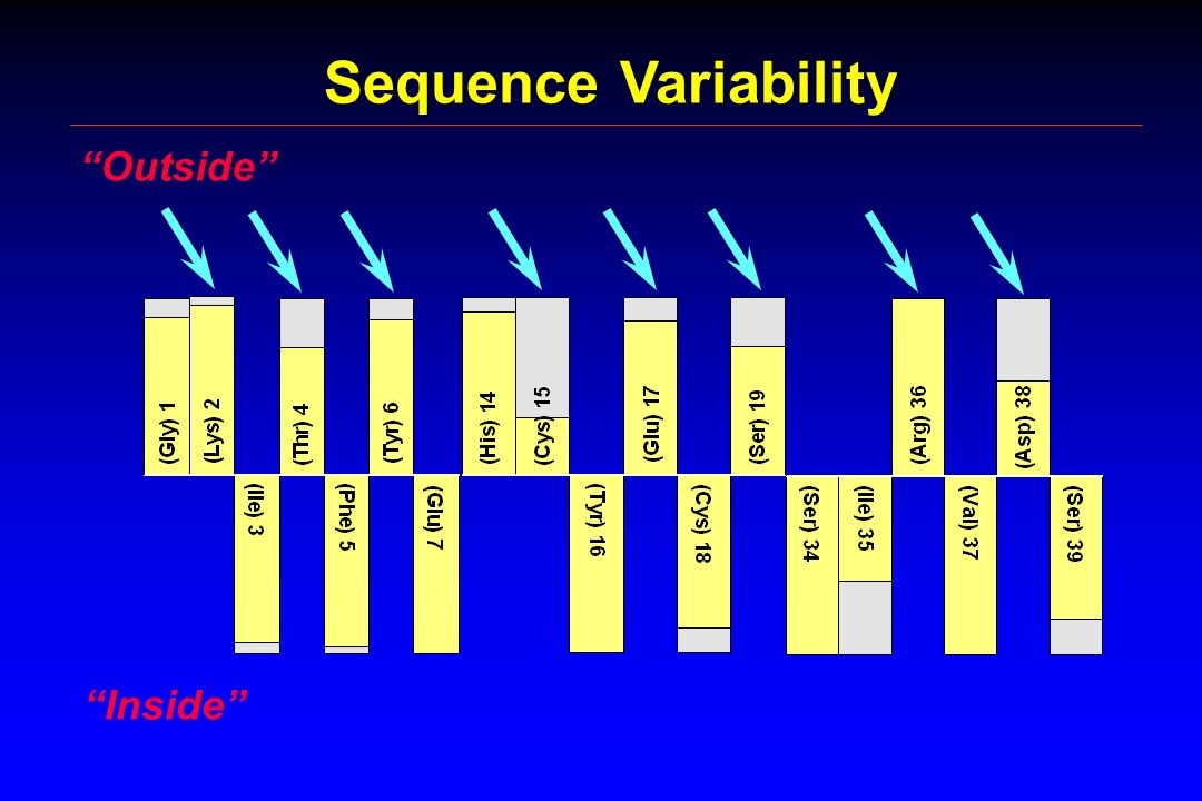 Sequence Variability Outside Inside