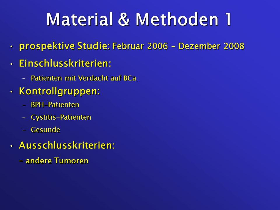 Material & Methoden 1 prospektive Studie: Februar 2006 – Dezember 2008
