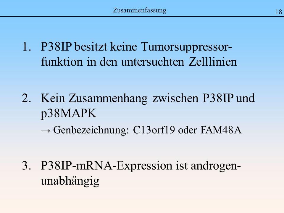 Kein Zusammenhang zwischen P38IP und p38MAPK