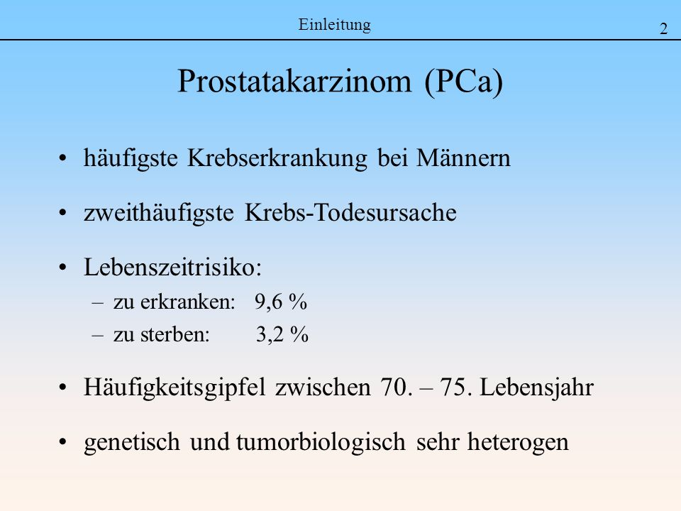 Prostatakarzinom (PCa)