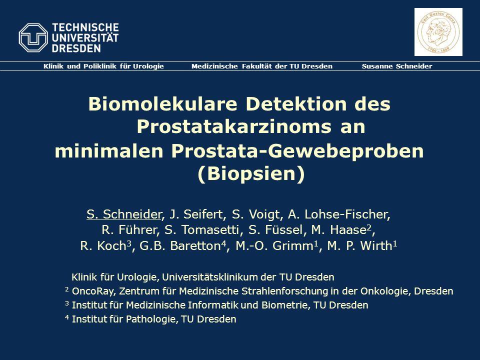 Biomolekulare Detektion des Prostatakarzinoms an