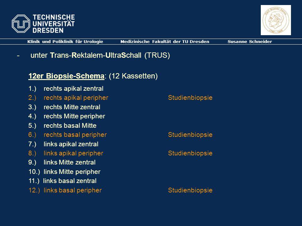 unter Trans-Rektalem-UltraSchall (TRUS)