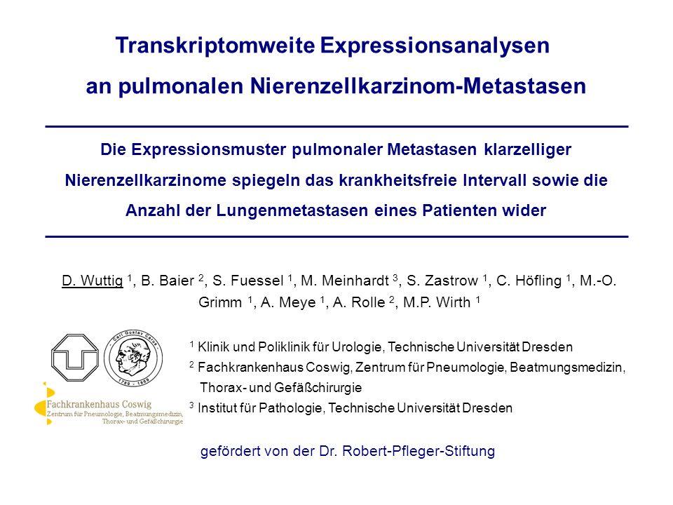 Transkriptomweite Expressionsanalysen