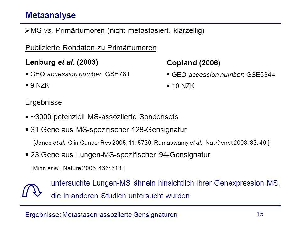 Metaanalyse MS vs. Primärtumoren (nicht-metastasiert, klarzellig)