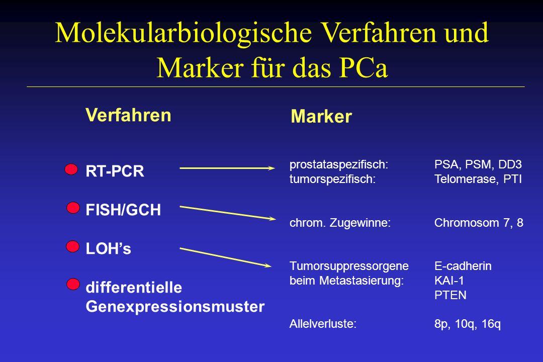 Molekularbiologische Verfahren und Marker für das PCa