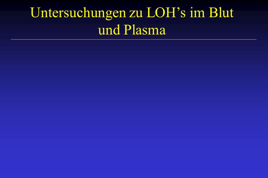 Untersuchungen zu LOH's im Blut und Plasma