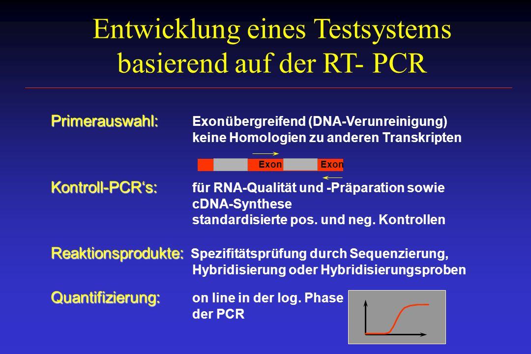 Entwicklung eines Testsystems basierend auf der RT- PCR