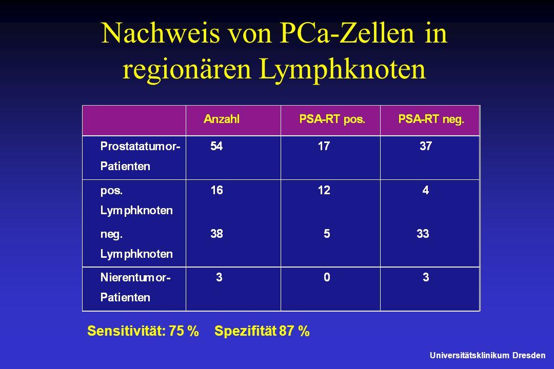 Nachweis von PCa-Zellen in regionären Lymphknoten
