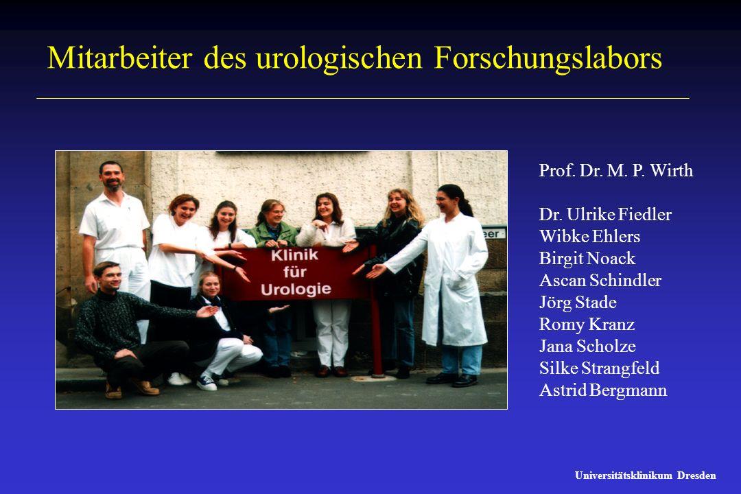 Mitarbeiter des urologischen Forschungslabors