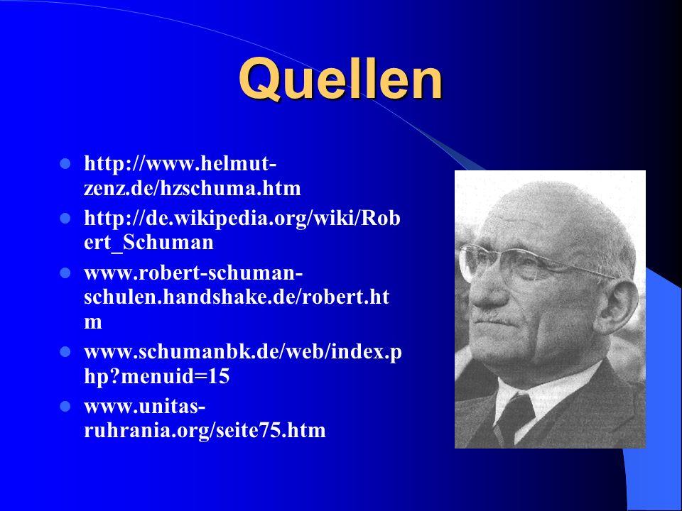 Quellen http://www.helmut-zenz.de/hzschuma.htm