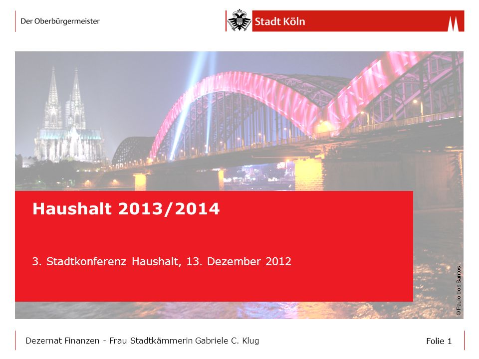 3. Stadtkonferenz Haushalt, 13. Dezember 2012