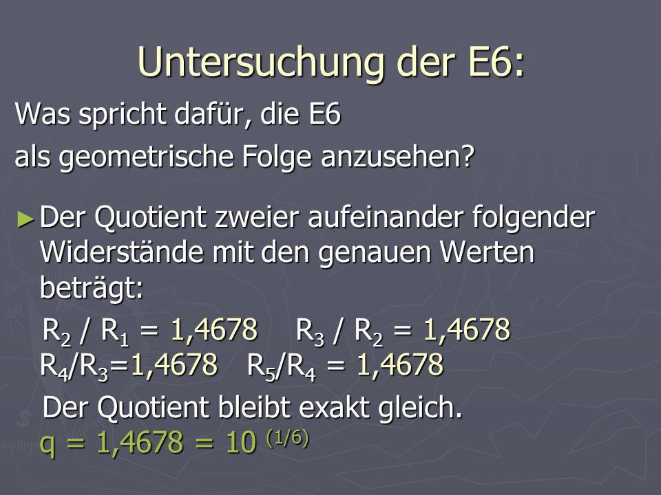 Untersuchung der E6: Was spricht dafür, die E6