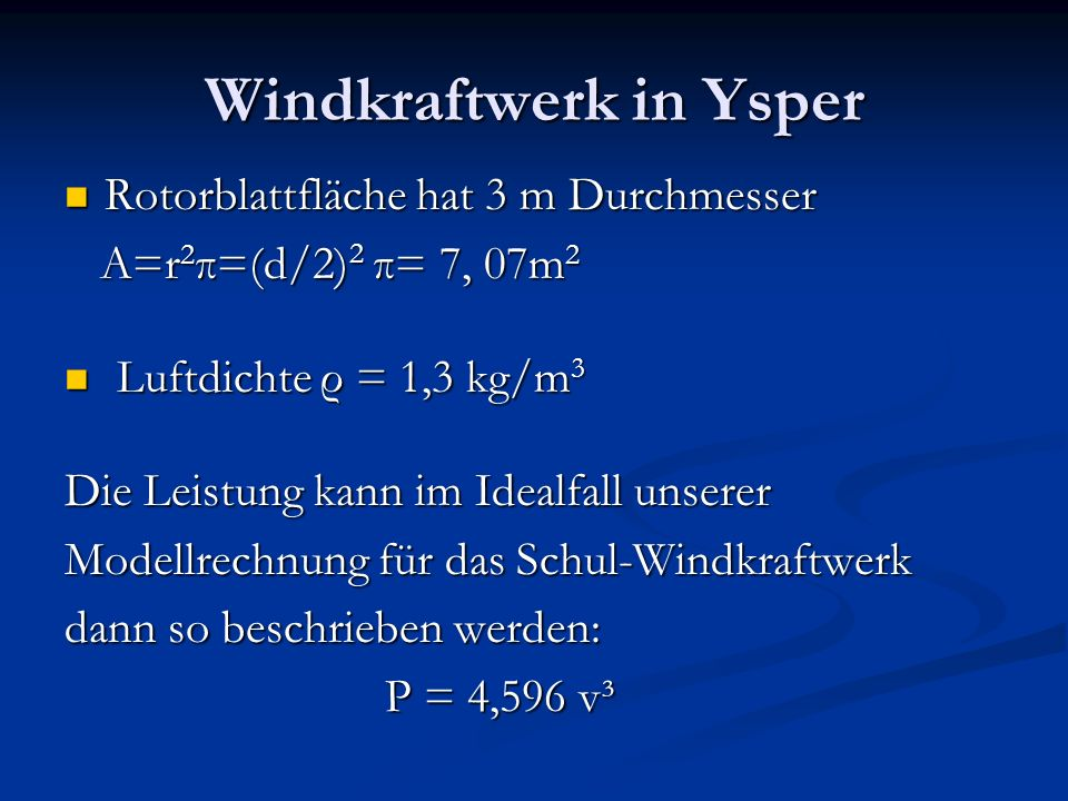 Windkraftwerk in Ysper