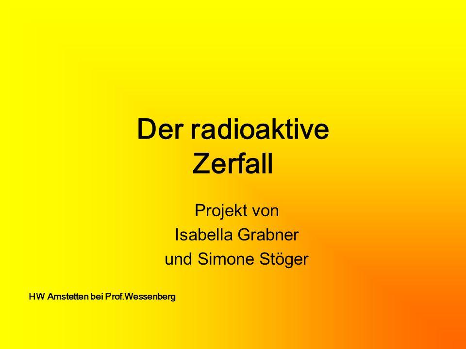 Der radioaktive Zerfall