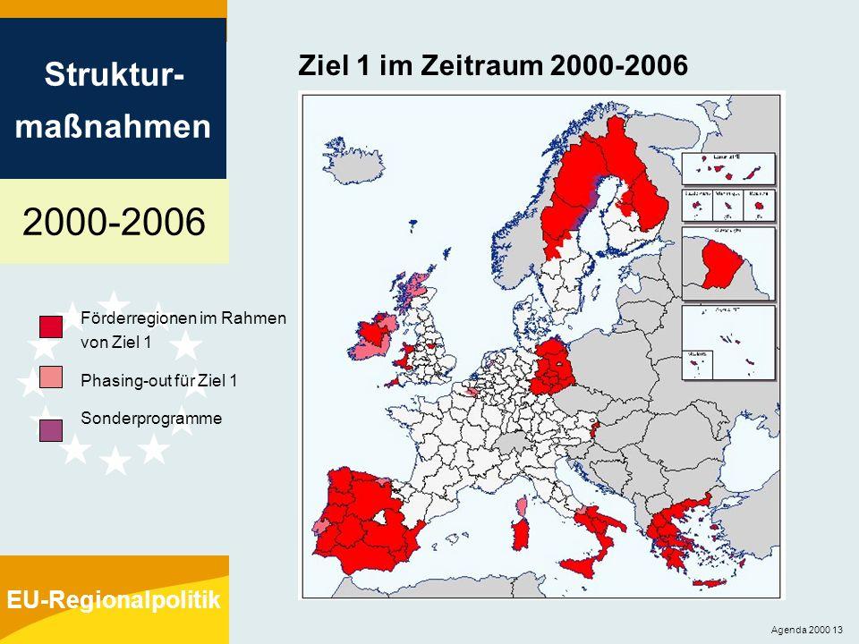 Ziel 1 im Zeitraum 2000-2006 Förderregionen im Rahmen von Ziel 1