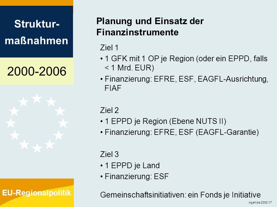 Planung und Einsatz der Finanzinstrumente