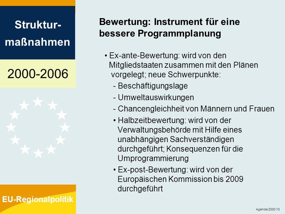 Bewertung: Instrument für eine bessere Programmplanung