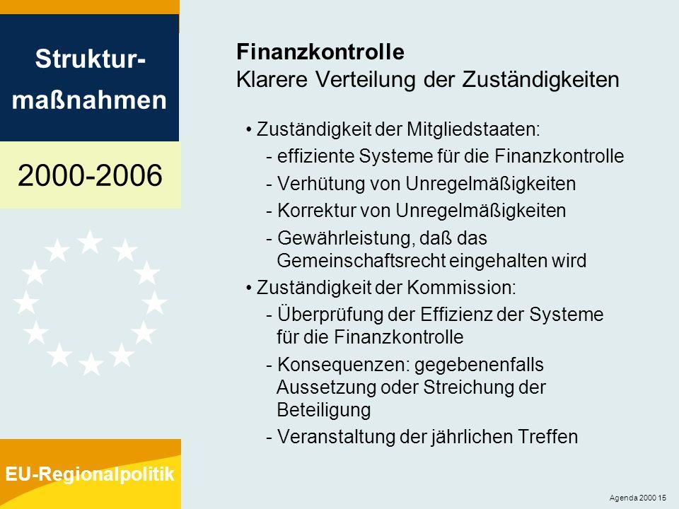 Finanzkontrolle Klarere Verteilung der Zuständigkeiten