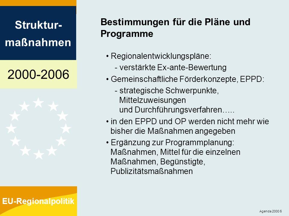 Bestimmungen für die Pläne und Programme