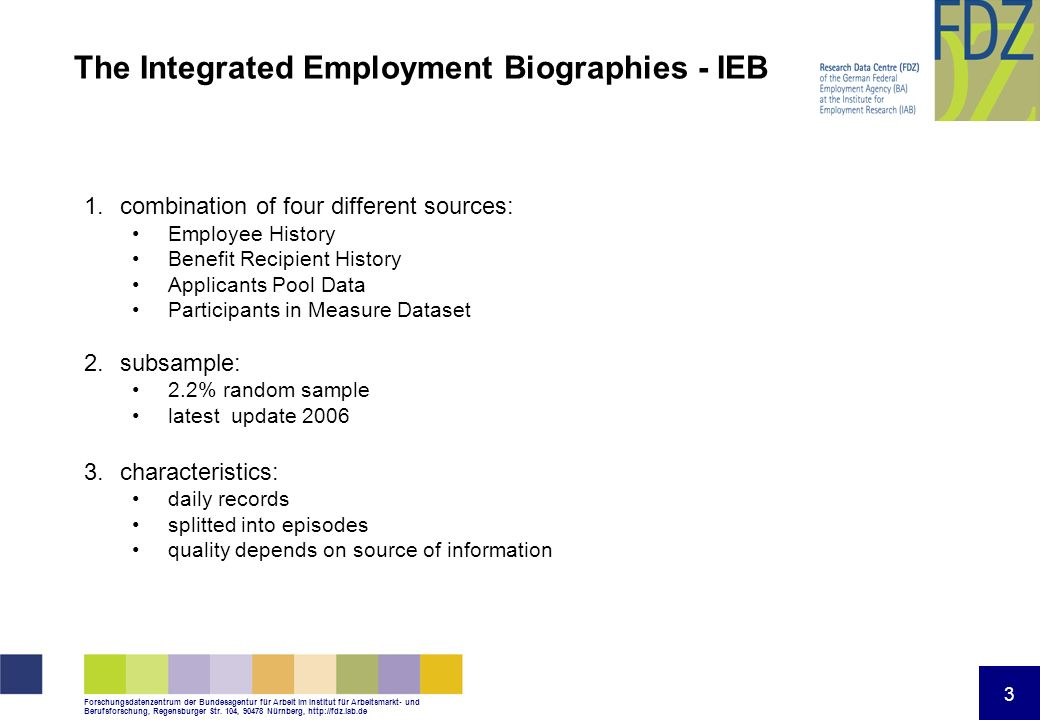 The Integrated Employment Biographies - IEB