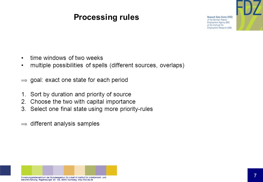 Processing rules time windows of two weeks