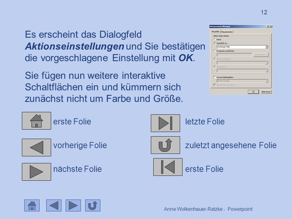 Anne Wolkenhauer-Ratzke - Powerpoint