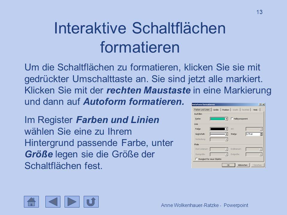 Interaktive Schaltflächen formatieren
