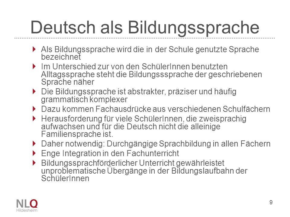 Deutsch als Bildungssprache