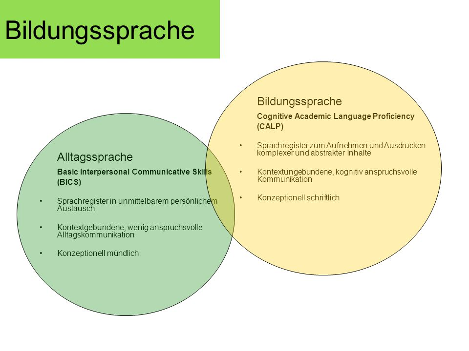 Bildungssprache Bildungssprache