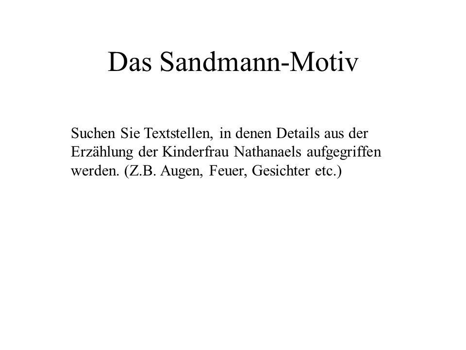 Das Sandmann-Motiv