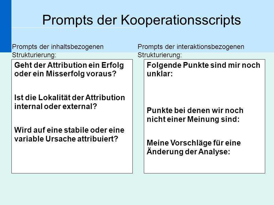 Prompts der Kooperationsscripts