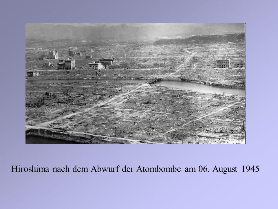 Hiroshima nach dem Abwurf der Atombombe am 06. August 1945
