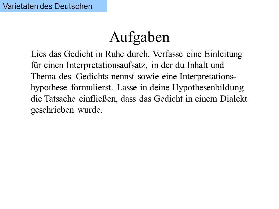 Varietäten des Deutschen