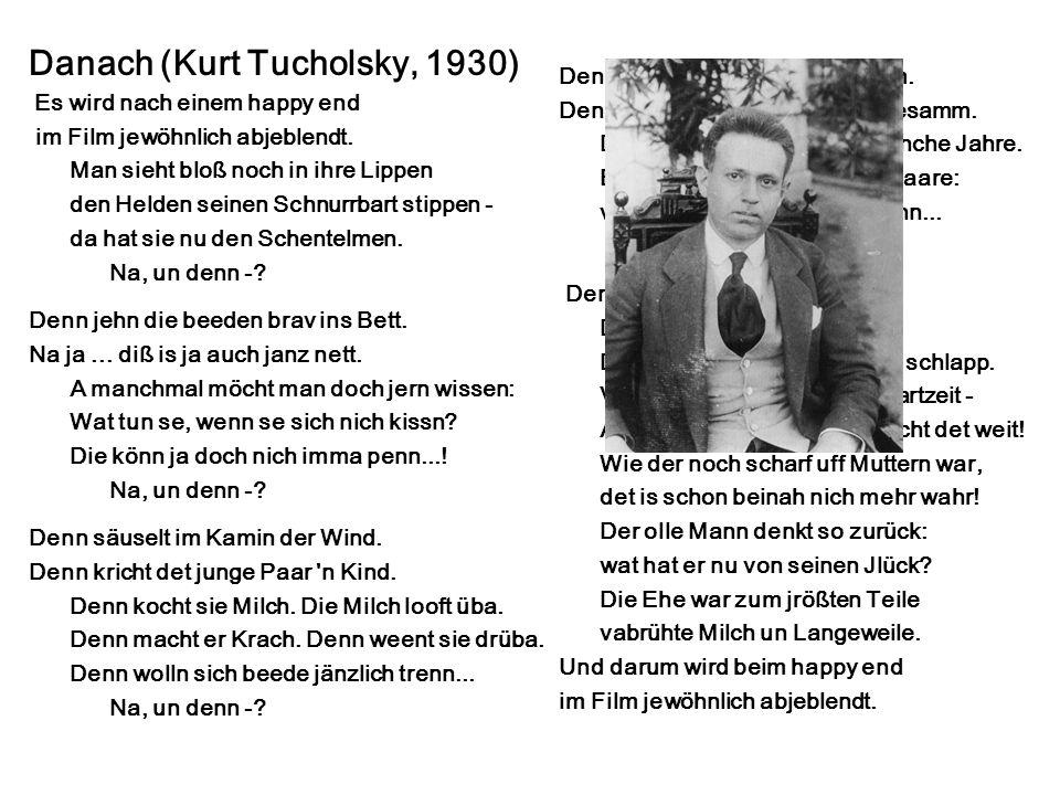 Danach (Kurt Tucholsky, 1930)
