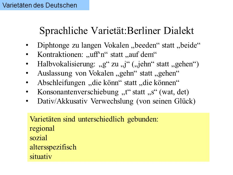 Sprachliche Varietät:Berliner Dialekt