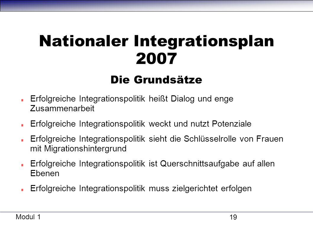 Nationaler Integrationsplan 2007 Die Grundsätze