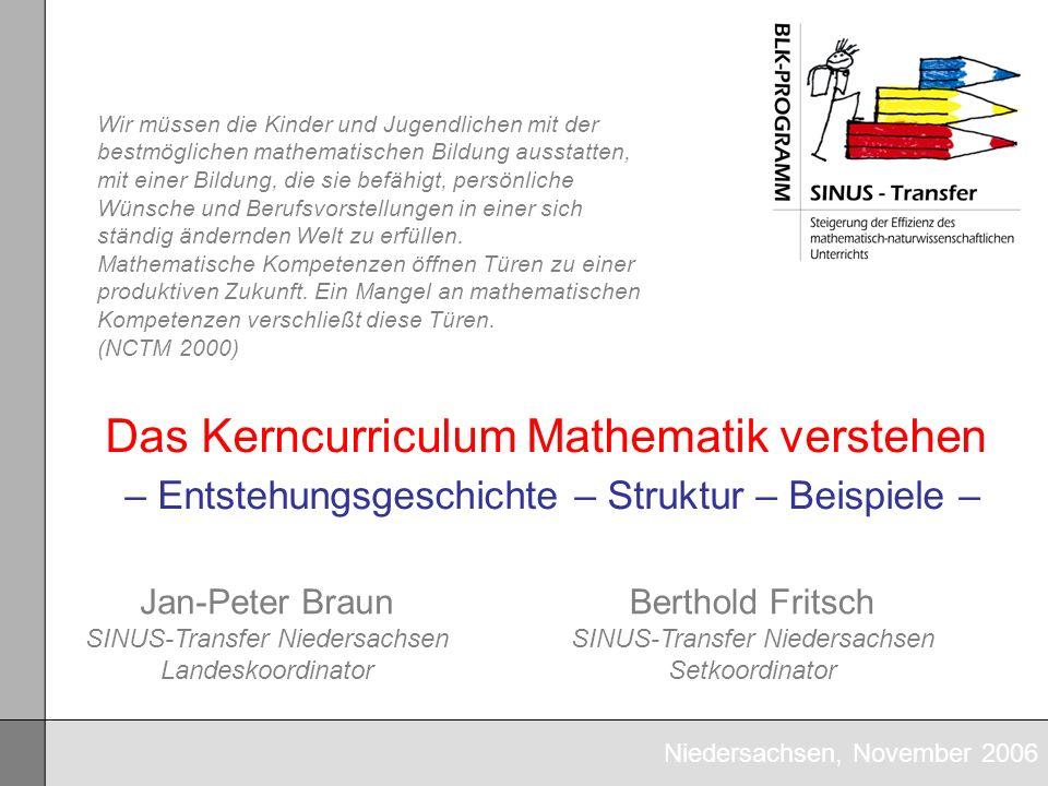 Informationsveranstaltung zu den Kerncurricula Mathematik HS/RS